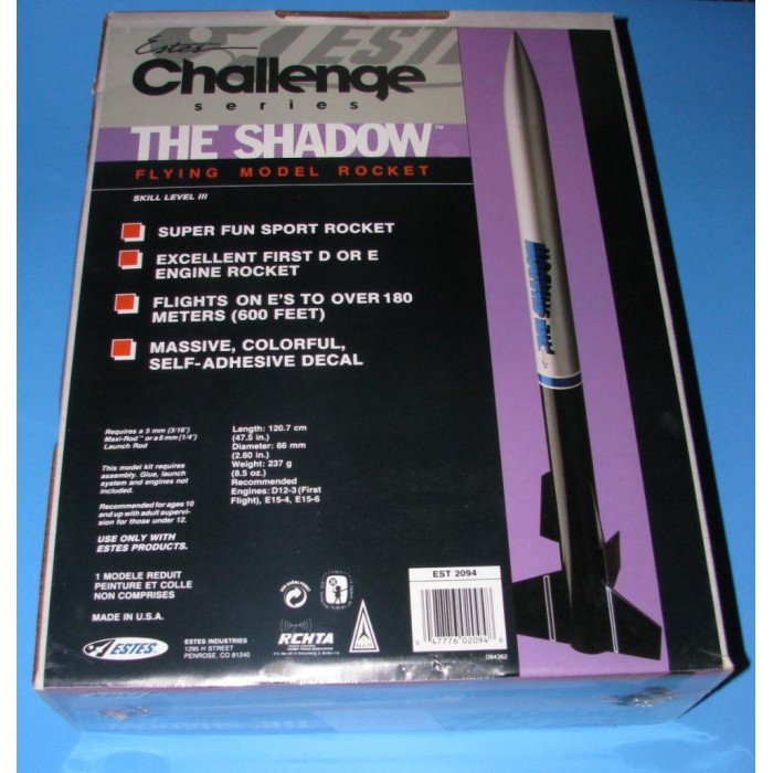 ESTES Shadow Out of Production kit